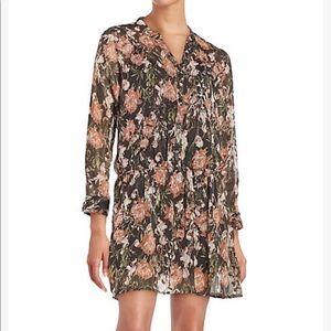BB Dakota Long Sleeve Floral Print Dress Size M